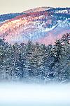 White Mountain foothills over Kezar Lake seen from Center Lovell, ME, USA