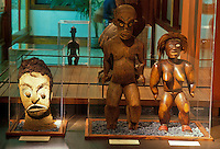Tiki figures on display at Bishop Museum, Honolulu