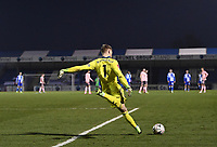 9th January 2021; Memorial Stadium, Bristol, England; English FA Cup Football, Bristol Rovers versus Sheffield United; Aaron Ramsdale of Sheffield United takes a free kick