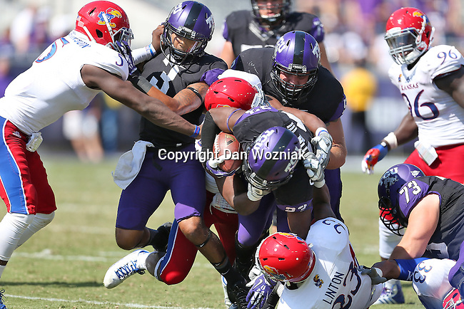 TCU Horned Frogs running back B.J. Catalon (23) in action during the game between the Kansas Jayhawks and the TCU Horned Frogs  at the Amon G. Carter Stadium in Fort Worth, Texas. TCU defeats Kansas 27 to 17.