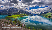 Fine Art Scenic of Waterton Lakes National Park in Alberta, Canada. This location is a world heritage site that boarders Canada and the USA. <br />