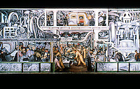 Detroit:   Detroit Industry, South Wall 1932-33. Diego M. Rivera 1886-1957. Mexican Main automotive panel.  Ref. only.