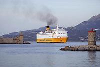 - Corsica, ferry of the Corsica Ferries & Sardinia Ferries company enter the port of Calvi<br /> <br /> - Corsica, traghetto della compagnia Corsica Ferryes & Sardinia Ferries entra nel porto di Calvi