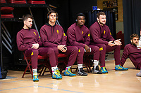STANFORD, CA - March 7, 2020: Josh Maruca, Cade Belshay, Kordell Norfleet, and Tanner Hall of Arizona State University during the 2020 Pac-12 Wrestling Championships at Maples Pavilion.