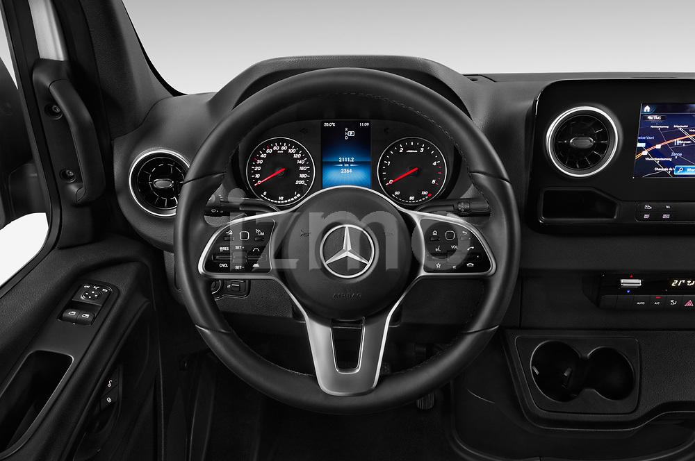 Car pictures of steering wheel view of a 2019 Mercedes Benz Sprinter-Fourgon - 4 Door Cargo Van Steering Wheel