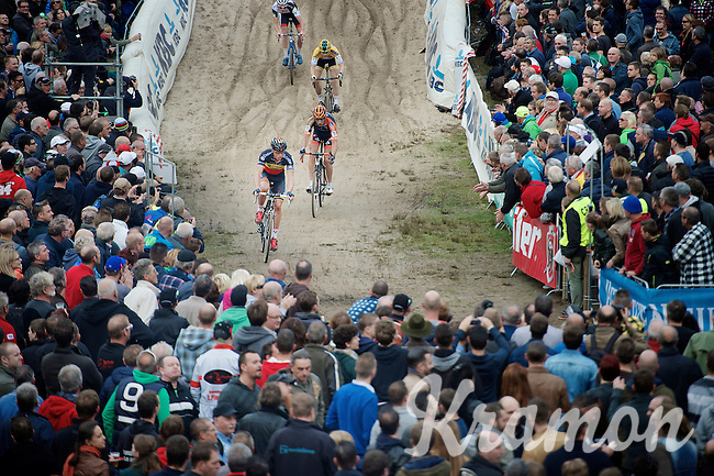 "Sven Nys (BEL/Crelan-AAdrinks) at the bottom of ""The Pit""<br /> <br /> GP Zonhoven 2014"