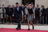 Paris (75)- Palais de l'Elysee- Ceremonie d installation de M. Emmanuel MACRON, PrÈsident de la RÈpublique, le dimanche 14 mai , Tiphaine AuziËre et son epoux
