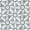 Edie, a waterjet stone mosaic shown in Nero, Bardiglio, Thassos, and Carrara, is part of the Silk Road® collection by New Ravenna.