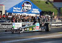 Jun. 17, 2011; Bristol, TN, USA: NHRA top fuel driver Austin Lambright during qualifying for the Thunder Valley Nationals at Bristol Dragway. Mandatory Credit: Mark J. Rebilas-
