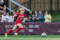 NEWTON, MA - AUGUST 29: Anna Heilferty of Boston University on the attack during a game between Boston University and Boston College at Newton Campus Field on August 29, 2019 in Newton, Massachusetts.