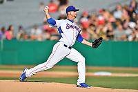 Tennessee Smokies starting pitcher Stephen Perakslis (28) delivers a pitch during a game against the Pensacola Blue Wahoos at Smokies Stadium on August 5, 2017 in Kodak, Tennessee. The Smokies defeated the Blue Wahoos 6-2. (Tony Farlow/Four Seam Images)