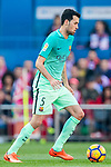 Sergio Busquets Burgos of FC Barcelona in action during their La Liga match between Atletico de Madrid and FC Barcelona at the Santiago Bernabeu Stadium on 26 February 2017 in Madrid, Spain. Photo by Diego Gonzalez Souto / Power Sport Images