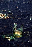 Europe/France/Ile-de-France/75006/Paris: Eglise Saint-Sulpice vue de nuit // Europe / France / Ile-de-France / 75006 / Paris: Saint-Sulpice Church night view