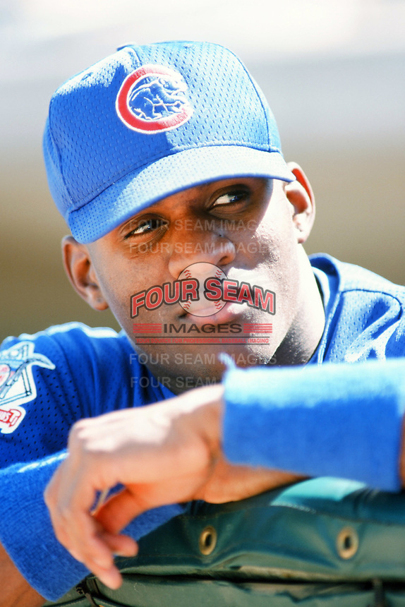 Roosevelt Brown of the Chicago Cubs pitches during a 1999 Major League Baseball Spring Training game Phoenix, Arizona. (Larry Goren/Four Seam Images)
