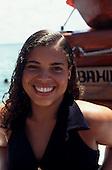 Salvador, Bahia, Brazil. Smiling Bahiana girl.