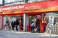Pictured: A general view of Poundstretcher inSwansea City Centre during the Covid-19 Coronavirus pandemic in Wales, UK, Swansea, Wales, UK. Monday 23 March 2020