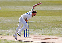 Matt Milnes bowls for Kent during Kent CCC vs Yorkshire CCC, LV Insurance County Championship Group 3 Cricket at The Spitfire Ground on 17th April 2021