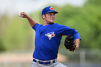 Toronto Blue Jays pitcher Sean Reid-Foley (64) during a minor league spring training game against the New York Yankees on March 24, 2015 at the Englebert Complex in Dunedin, Florida.  (Mike Janes/Four Seam Images)