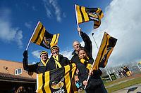 Photo: Richard Lee/Richard Lane Photography. Aviva Premiership. Newcastle Falcons v Wasps. 27/03/2016. Wasps supporters.