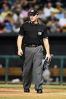 Umpire Garrett Patterson during game three of the Southern League Championship Series between the Chattanooga Lookouts and Jacksonville Suns on September 12, 2014 at Bragan Field in Jacksonville, Florida.  Jacksonville defeated Chattanooga 6-1 to sweep three games to none.  (Mike Janes/Four Seam Images)