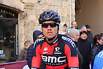 Greg Van Avermaet (BEL) BMC Racing Team makes his way to sign on before the start of the 2015 Strade Bianche Eroica Pro cycle race 200km over the white gravel roads from San Gimignano to Siena, Tuscany, Italy. 7th March 2015<br /> Photo: Eoin Clarke www.newsfile.ie