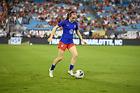 CHARLOTTE, NC - OCTOBER 03: Rose Lavelle #16 of the United States warming up during their game versus Korea Republic at Bank of American Stadium, on October 03, 2019 in Charlotte, NC.