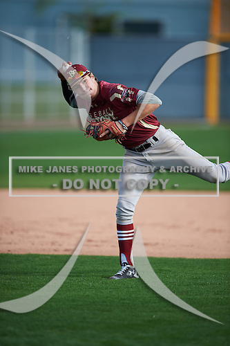 Raynel Delgado (9) of Mater Academy High School in MIAMI LAKES, Florida during the Under Armour All-American Pre-Season Tournament presented by Baseball Factory on January 14, 2017 at Sloan Park in Mesa, Arizona.  (Mike Janes/Mike Janes Photography)