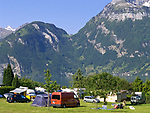 Schweiz, Kanton Uri, Sisikon: Campingplatz direkt am Urnersee | Switzerland, Canton Uri, Sisikon: camping ground at Urner lake (part of Lake Lucerne)