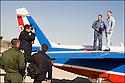 -2008- Salon de Provence- Patrouille de France, photo du pilote et de son mécanicien sur l'Alphajet, pour la brochure de la Patrouille de France.
