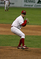 June 27, 2003:  pitcher Daniel Hodges of the Batavia Muckdogs during a game at Dwyer Stadium in Batavia, New York.  Photo by:  Mike Janes/Four Seam Images