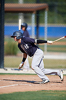 New York Yankees Pablo Olivares (15) during a Minor League Spring Training game against the Toronto Blue Jays on March 18, 2018 at Englebert Complex in Dunedin, Florida.  (Mike Janes/Four Seam Images)