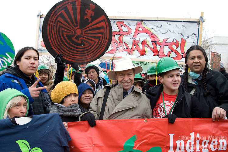 Dr. James Hansen and members of the Indigenous Environment Network at the Capitol Coal Action in Washington, D.C. - ©Robert vanWaarden ALL RIGHTS RESERVED