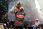 HOT SPRINGS, AR - AUGUST 12: FLW pro Clent Davis holding up the trophy after winning the FLW Forrest Wood Cup on Lake Ouachita in Hot Springs, Arkansas. (Photo by Justin Manning/Eclipse Sportswire/Getty Images)