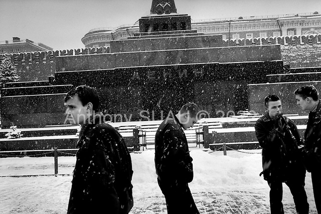 Moscow, Russia .March 1999.Lenin?s Tomb-Red Square..