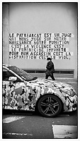 Europe/Ile de France/ 75011/Paris :  Graffiti  contre féminicide Rue de Malte  // Europe / Ile de France / 75011 / Paris: Graffiti against feminicide Rue de Malte