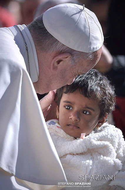 Pope Francis during of a weekly general audience at St Peter's square in Vatican. March 29, 2017