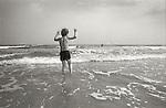 Young boy in surf. Brigantine Beach, New Jersey 1978