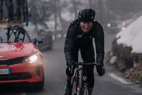 mid-race face by Marcel Sieberg (DEU/Lotto-Soudal)<br /> <br /> 76th Paris-Nice 2018<br /> Stage 7: Nice > Valdeblore La Colmiane (175km)