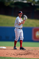 Portland Sea Dogs starting pitcher Matthew Kent (21) gets ready to deliver a pitch during the first game of a doubleheader against the Reading Fightin Phils on May 15, 2018 at FirstEnergy Stadium in Reading, Pennsylvania.  Portland defeated Reading 8-4.  (Mike Janes/Four Seam Images)