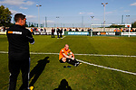 Dave Challinor, Manager of AFC Fylde, and Stephen Crainey reflect on defeat. Vanarama National League North, Promotion Final, North Ferriby United v AFC Fylde, 14th May 2016.