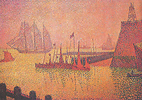 The Mole in Vlissinzhen, 1896,<br /> Paul Signac (1863–1935) <br /> oil on canvas<br /> private collection, Lausanne