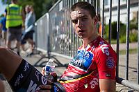 Wout van Aert (BEL/Veranda's Willems Crelan) post race. He lost his GC jersey after todays mini LBL stage.<br /> <br /> Baloise Belgium Tour 2017 (2.HC)<br /> Stage 4: Ans-Ans 167,8km