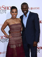 Sean Patrick Thomas + wife Aonika @ the premiere of 'Barber Shop The Next Cut' held @ the Chinese theatre.<br /> April 6, 2016