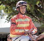 HALLANDALE BEACH, FL - Photo of Edgard Zayas taken October 17, 2014 at Gulfstream Park in Hallandale Beach, FL. (Photo by Bob Aaron/Eclipse Sportswire/Getty Images)