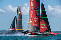 17th March 2021; Waitemata Harbour, Auckland, New Zealand;  Emirates Team New Zealand and Luna Rossa Prada Pirelli Team race ten. Wednesday the 17th of March 2021.