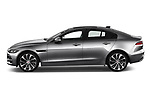Car driver side profile view of a 2020 Jaguar XE S 4 Door Sedan