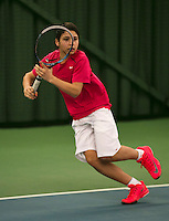 Rotterdam, The Netherlands, 15.03.2014. NOJK 14 and 18 years ,National Indoor Juniors Championships of 2014, Sidané Pontjodikromo (NED)<br /> Photo:Tennisimages/Henk Koster