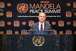 Opening Plenary Meeting of the Nelson Mandela Peace Summit<br /> <br /> His Excellency Joseph MUSCATPrime Minister of the Republic of Malta