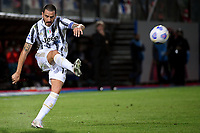 Leonardo Bonucci of Juventus FC in action during the Serie A football match between FC Crotone and Juventus FC at stadio Ezio Scida in Crotone (Italy), October 17th, 2020. Photo Federico Tardito / Insidefoto