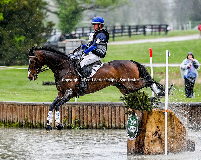 April 24, 2021: Will Faudree competes in the Cross Country phase of the Land Rover 5* 3-Day Event aboard Mama'S Magic Way at the Kentucky Horse Park in Lexington, Kentucky. Scott Serio/Eclipse Sportswire/CSM